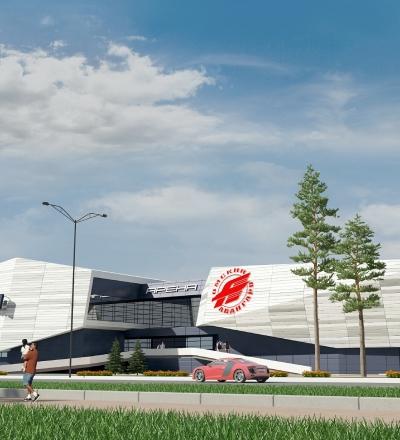 Ледовый дворец и гостиница хоккейной академии «АВАНГАРД»